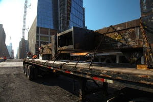 photo 2 first piece of historic steel order arrives at hudson yards courtesy of joe woolhead NYC Policymakers and Advocates Review Construction Safety Requirements
