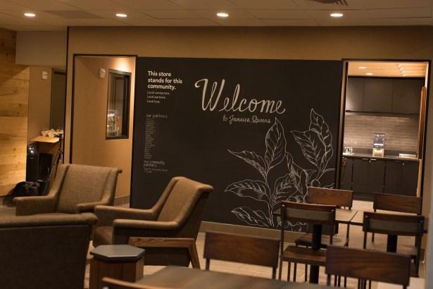 community room at starbucks at 8900 sutphin boulevard photo starbucks Starbucks Will Open Its First Location in Bed Stuy