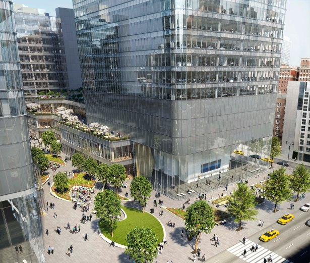 one manhattan west from 9th ave 1 Wells Fargo Lends $530M Construction Package for Brookfield's 1 Manhattan West