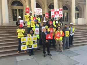 kalikow rally pic City Planning Holds First Hearing On Fate of Gamma Real Estate's Sutton Place Development