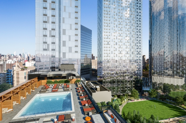 15 rooftoppool park completion 2 170313 While Williamsburg Suffers L Train Problems, It's LIC's Time to Shine