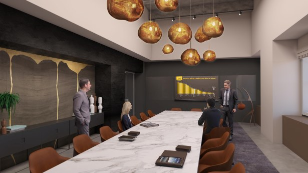 3 boardroom low1 Convene to Bring Social Events to New 28K SF Space at 75 Rock