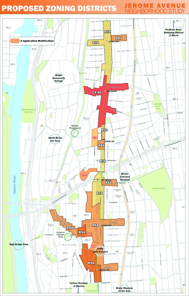 proposed zoning map cmyk A Massive Rezoning Promises to Remake the Central Bronx