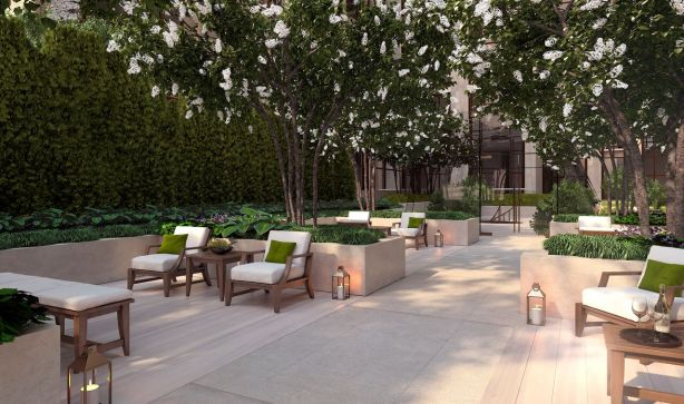 gramercy square courtyard rendering SL Green Provides $380M Refi for Gramercy Square Luxury Condo Development