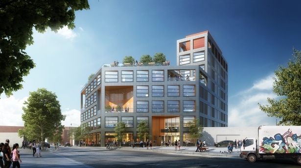 c03 Renderings Revealed for Simon Baron's Office and Industrial Project in Greenpoint