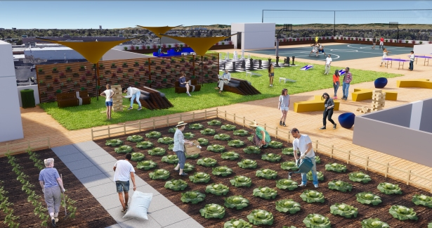 2018 05 10 rooftop garden Thinking Inside the Big Box—Innovative Concepts to Combat the Homeless Crisis
