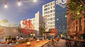 47hall exterior backporchplaza rendering 2018 Placemaking Beyond Manhattan
