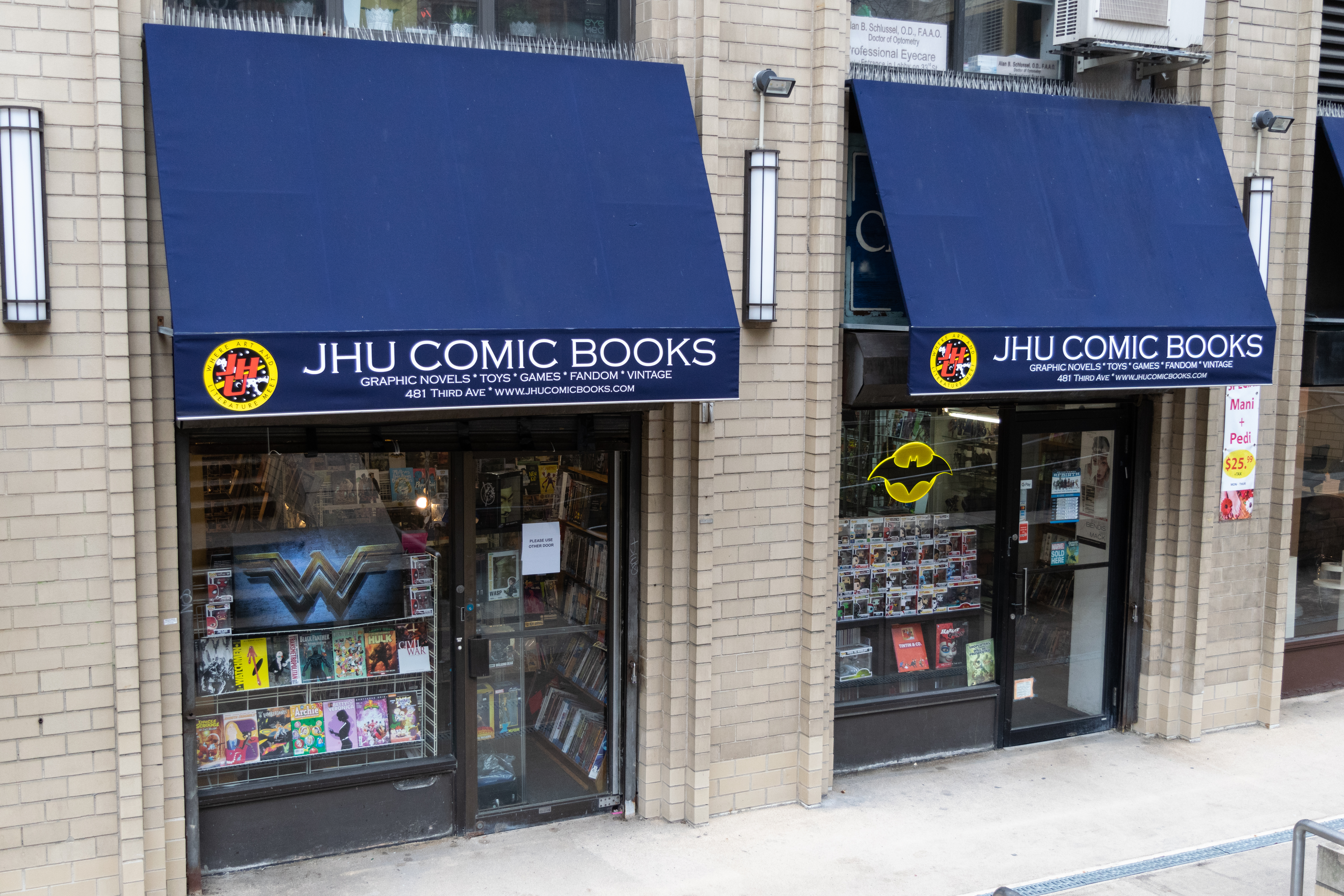 JHU Comic Books at 481 3rd Ave