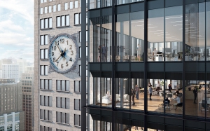 oma looking through office clocktower view The Power of One   SL Green Infuses History with Modernity at One Madison Avenue