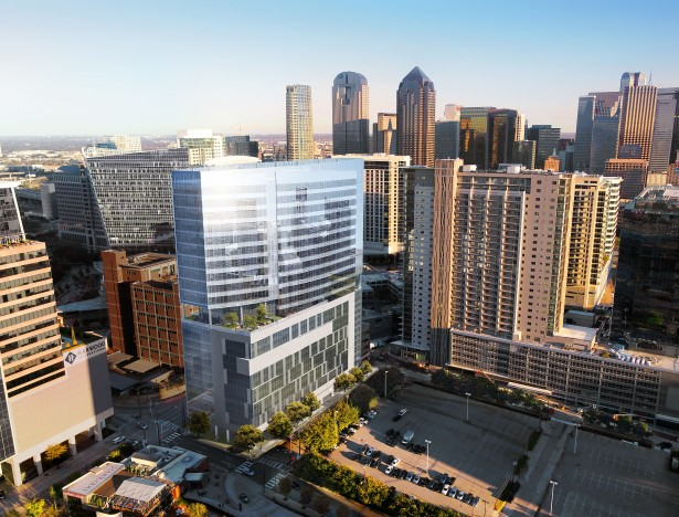 the link at uptown park west garage view Goldman Sachs Led Fund Lends $128M for Planned Dallas Office Tower