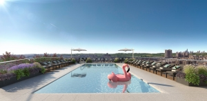 the rooftop pool With PLG, the Moinian Group Makes a Grand Entrance Into the Brooklyn Market
