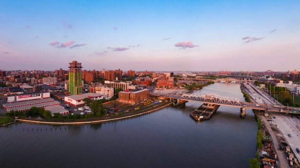 bankside aeriel before Brookfield Reveals Renderings for Its South Bronx Megaproject